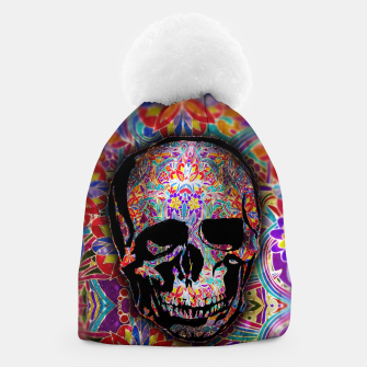 Thumbnail image of Skull With Floral Pattern Beanie, Live Heroes