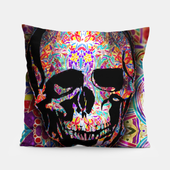 Thumbnail image of Skull With Floral Pattern Pillow, Live Heroes