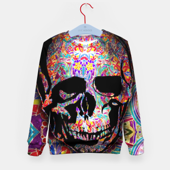 Thumbnail image of Skull With Floral Pattern Kid's sweater, Live Heroes