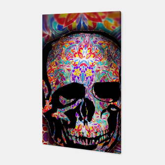 Thumbnail image of Skull With Floral Pattern Canvas, Live Heroes