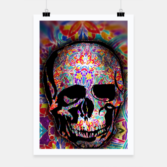 Thumbnail image of Skull With Floral Pattern Poster, Live Heroes