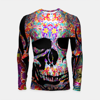 Thumbnail image of Skull With Floral Pattern Longsleeve rashguard , Live Heroes