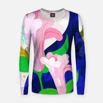 Thumbnail image of Blue Leaf Women sweater, Live Heroes