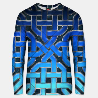 Thumbnail image of Blue Celtic Knot Ice Unisex sweater, Live Heroes