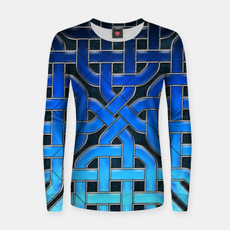 Thumbnail image of Blue Celtic Knot Ice Women sweater, Live Heroes