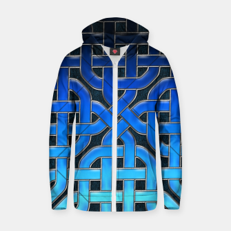 Thumbnail image of Blue Celtic Knot Ice Zip up hoodie, Live Heroes