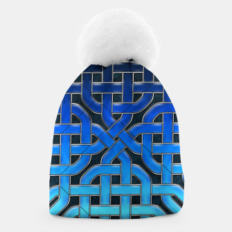 Thumbnail image of Blue Celtic Knot Ice Beanie, Live Heroes