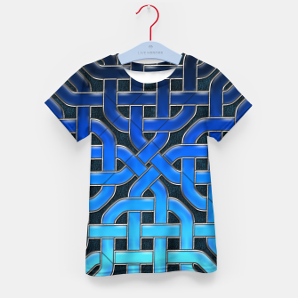 Thumbnail image of Blue Celtic Knot Ice Kid's t-shirt, Live Heroes