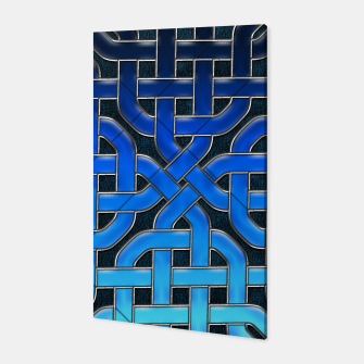 Thumbnail image of Blue Celtic Knot Ice Canvas, Live Heroes