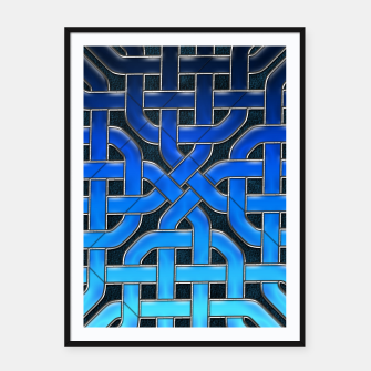 Thumbnail image of Blue Celtic Knot Ice Framed poster, Live Heroes