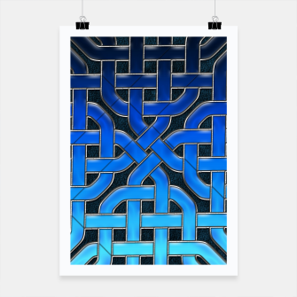 Miniatur Blue Celtic Knot Ice Poster, Live Heroes