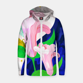 Thumbnail image of Blue Leaf Zip up hoodie, Live Heroes