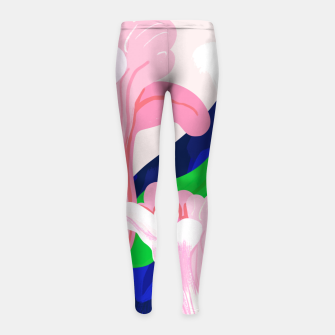 Thumbnail image of Blue Leaf Girl's leggings, Live Heroes