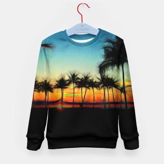 Sunset From The Car Kid's sweater thumbnail image