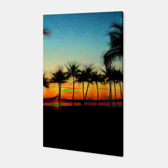 Sunset From The Car Canvas thumbnail image