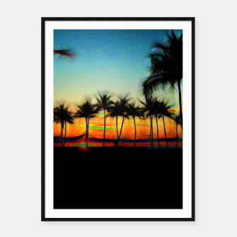 Thumbnail image of Sunset From The Car Framed poster, Live Heroes