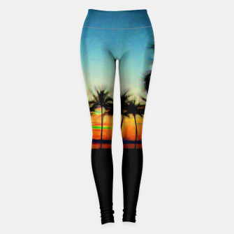 Thumbnail image of Sunset From The Car Leggings, Live Heroes