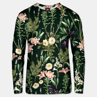 Thumbnail image of Dark Botanical Garden Unisex sweater, Live Heroes
