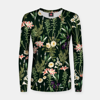 Thumbnail image of Dark Botanical Garden Women sweater, Live Heroes