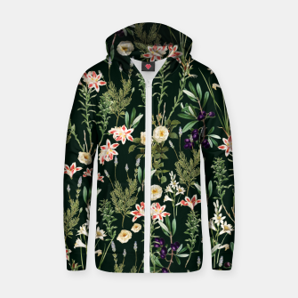 Thumbnail image of Dark Botanical Garden Zip up hoodie, Live Heroes