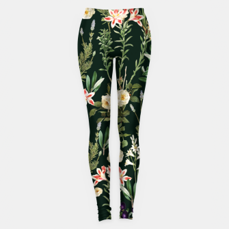 Thumbnail image of Dark Botanical Garden Leggings, Live Heroes