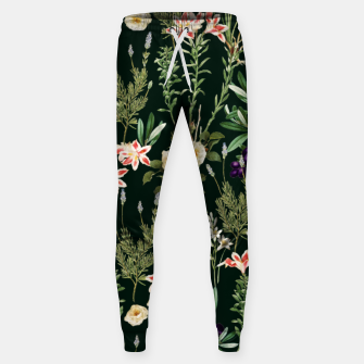 Thumbnail image of Dark Botanical Garden Sweatpants, Live Heroes
