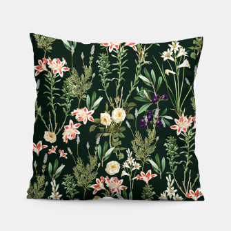 Thumbnail image of Dark Botanical Garden Pillow, Live Heroes