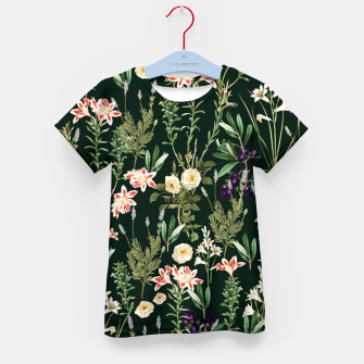 Thumbnail image of Dark Botanical Garden Kid's t-shirt, Live Heroes