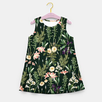 Thumbnail image of Dark Botanical Garden Girl's summer dress, Live Heroes