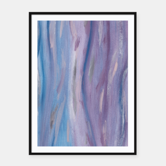 Thumbnail image of Touching Purple Blue Watercolor Abstract #2 #painting #decor #art Plakat mit rahmen, Live Heroes