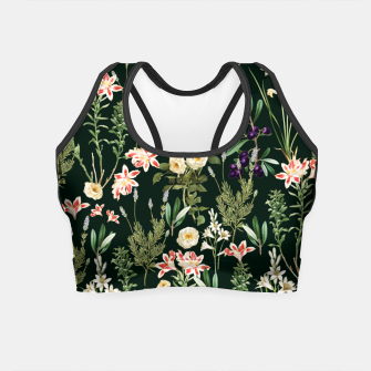 Thumbnail image of Dark Botanical Garden Crop Top, Live Heroes