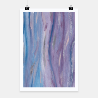 Thumbnail image of Touching Purple Blue Watercolor Abstract #2 #painting #decor #art Plakat, Live Heroes