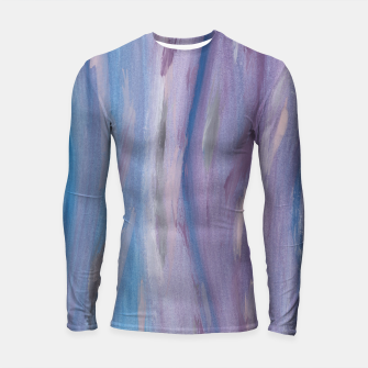 Thumbnail image of Touching Purple Blue Watercolor Abstract #2 #painting #decor #art Longsleeve rashguard, Live Heroes