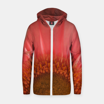 Thumbnail image of Pastel Pink and Yellow Daisy Zip up hoodie, Live Heroes
