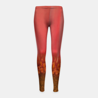 Thumbnail image of Pastel Pink and Yellow Daisy Girl's leggings, Live Heroes
