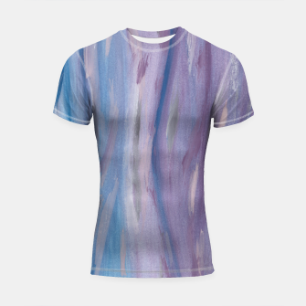 Thumbnail image of Touching Purple Blue Watercolor Abstract #2 #painting #decor #art Shortsleeve rashguard, Live Heroes