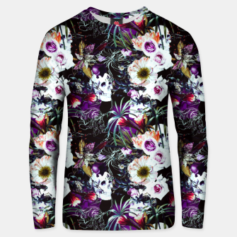 Skull in dark bloom Sudadera unisex thumbnail image