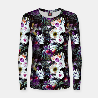 Skull in dark bloom Sudadera para mujeres thumbnail image