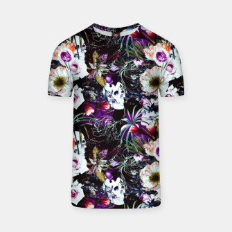 Skull in dark bloom Camiseta thumbnail image