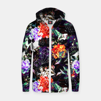 Thumbnail image of Geometrics in dark abstract garden Sudadera con capucha y cremallera , Live Heroes
