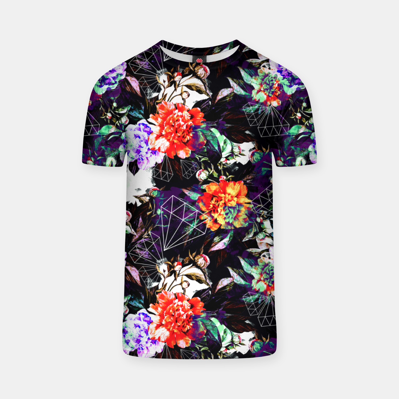 Image of Geometrics in dark abstract garden Camiseta - Live Heroes