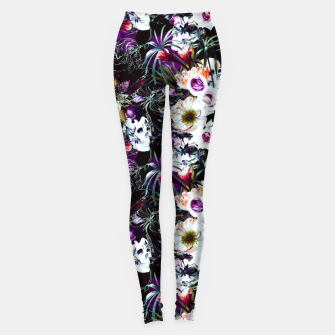 Skull in dark bloom Leggings thumbnail image