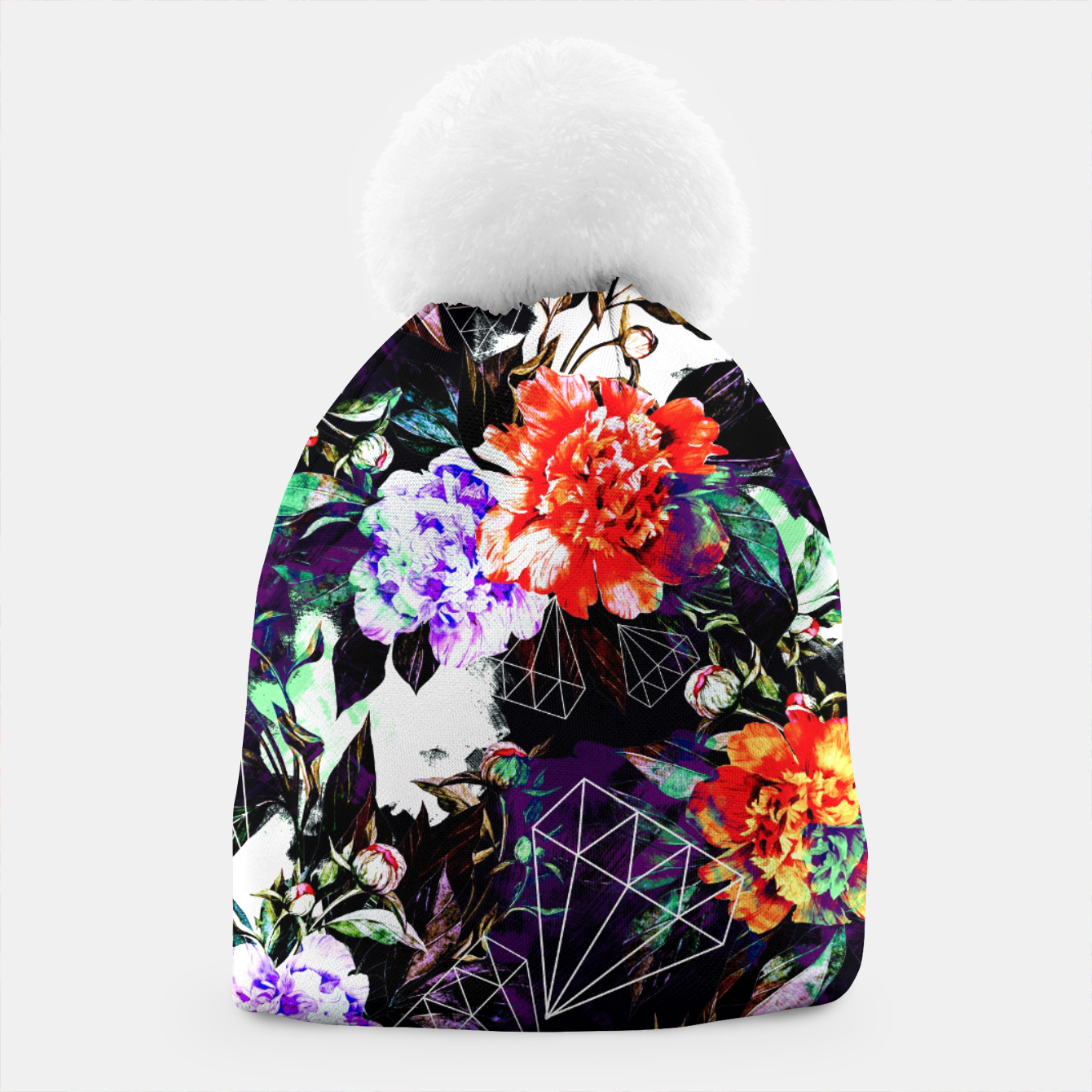 Image of Geometrics in dark abstract garden Gorro - Live Heroes