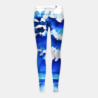 Thumbnail image of sky is over by Yulia A. Korneva Girl's leggings, Live Heroes