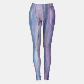 Thumbnail image of Touching Purple Blue Watercolor Abstract #2 #painting #decor #art Leggings, Live Heroes