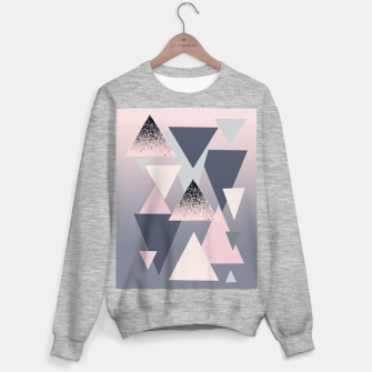 Miniaturka Geometric Triangles Glitter Dream #1 #minimal #decor #art Sweatshirt regulär, Live Heroes
