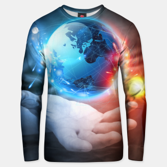Thumbnail image of The planet in your hand Unisex sweater, Live Heroes