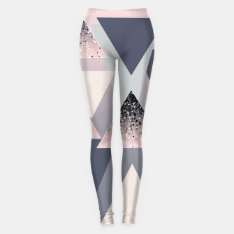 Thumbnail image of Geometric Triangles Glitter Dream #1 #minimal #decor #art Leggings, Live Heroes