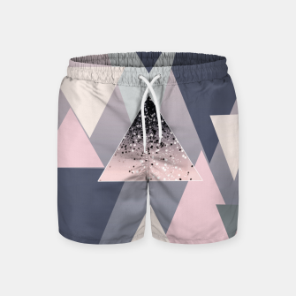 Thumbnail image of Geometric Triangles Glitter Dream #1 #minimal #decor #art Badeshorts, Live Heroes