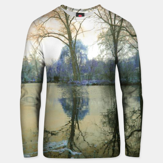 Thumbnail image of Sunset in Yellow on The Lake Unisex sweater, Live Heroes